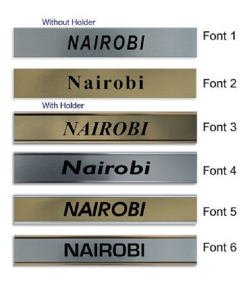 Nairobi Clock Name Plate |World Time Zone City Wall clocks Sign custom Plaque